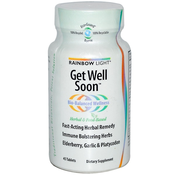 Rainbow Light, Get Well Soon, 45 Tablets (Discontinued Item)