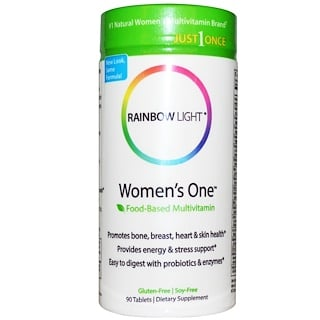 Rainbow Light, Just Once, Women's One, Multivitamínico basado en alimentos, 90 comprimidos