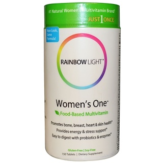 Rainbow Light, Just Once, Women's One, Multivitamínico basado en alimentos, 150 comprimidos