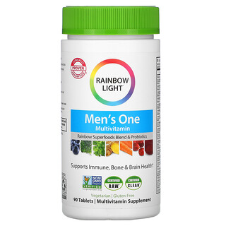 Rainbow Light, Men's One, Multivitamines pour hommes, 90comprimés