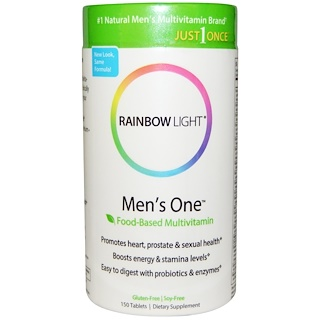 Rainbow Light, Just Once, Men's One, Multivitamínico Basado en Alimentos, 150 Pastillas