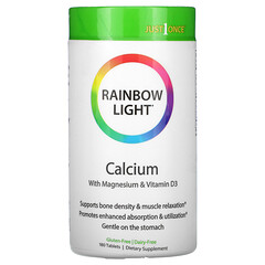 Rainbow Light, Just Once,食品基鈣,180 片