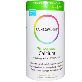 Rainbow Light, Just Once, Food-Based Calcium, 180 Tablets