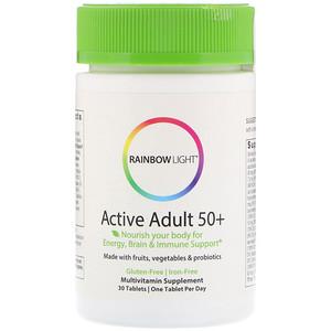 Раинбов Лигхт, Active Adult 50+ , 30 Tablets отзывы