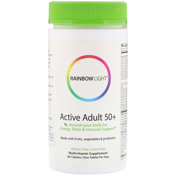 Rainbow Light, Active Adult 50+, 90 قرص