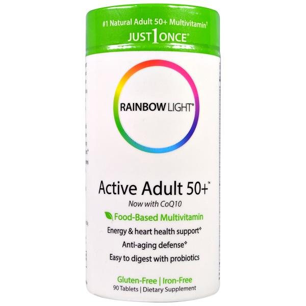 Rainbow Light, Just Once, Active Adult 50+, Food-Based Multivitamin, 90 Tablets