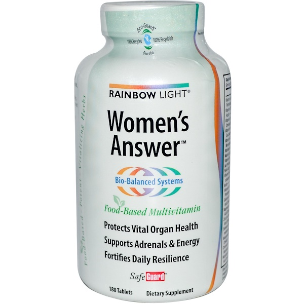 Rainbow Light, Women's Answer, Food-Based Multivitamin, 180 Tablets (Discontinued Item)