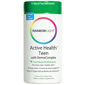 Раинбов Лигхт, Active Health, Teen, Food-Based Multivitamin, 30 Tablets отзывы