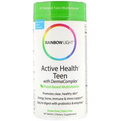 Rainbow Light, Active Health Teen with Derma Complex, Food-Based Multivitamin, 90 Tablets