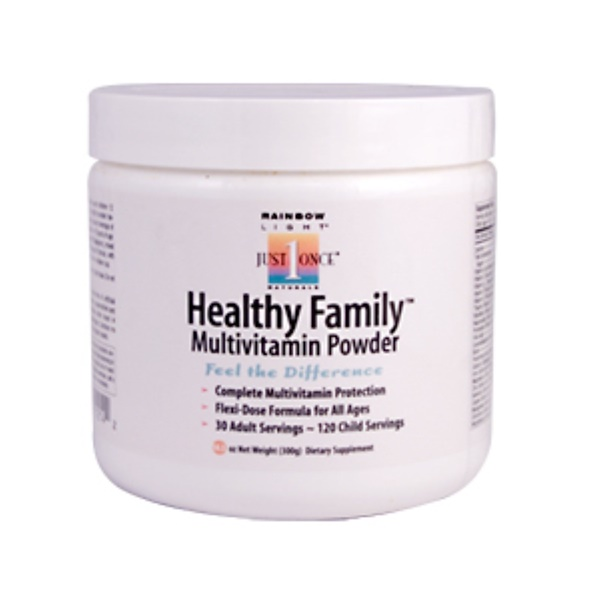 Rainbow Light, Just Once, Healthy Family Multivitamin Powder, 10.5 oz (300 g) (Discontinued Item)