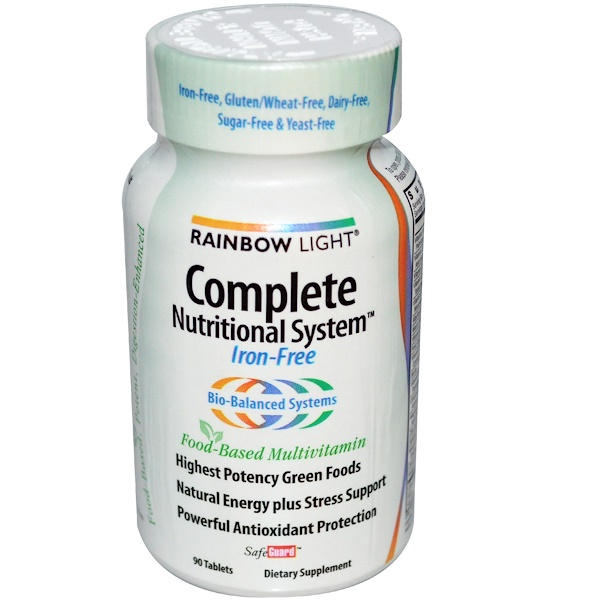 Rainbow Light, Complete Nutritional System, Food-Based Multivitamin, Iron-Free, 90 Tablets (Discontinued Item)