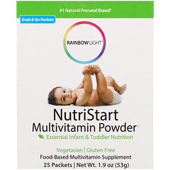 Rainbow Light, NutriStart, Multivitamin Powder, 25 Packets, 1.9 oz (53 g)