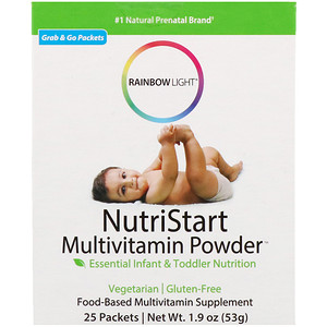 Раинбов Лигхт, NutriStart, Multivitamin Powder, 25 Packets, 1.9 oz (53 g) отзывы покупателей