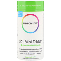 Мини-таблетки 50+, мультивитамины на основе продуктов питания, 90 мини-таблеток - фото