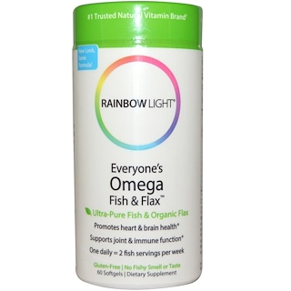 Rainbow Light, Everyone's Omega Fish & Flax Oil, 60 Softgels