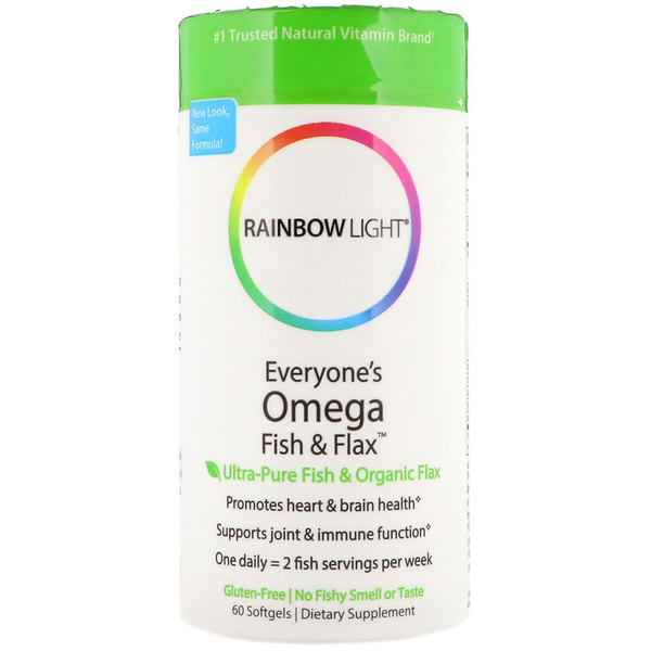 Rainbow Light, Everyone's Omega Fish & Flax Oil, 60 Softgels (Discontinued Item)