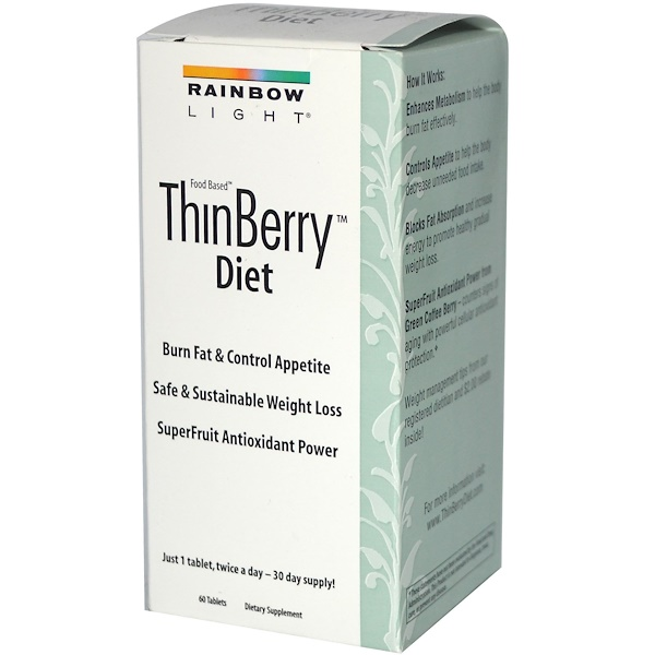 Rainbow Light, Food Based, ThinBerry Diet, 60 Tablets (Discontinued Item)