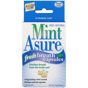 Раинбов Лигхт, Mint Asure, Fresh Breath Capsules , 160 Capsules отзывы покупателей