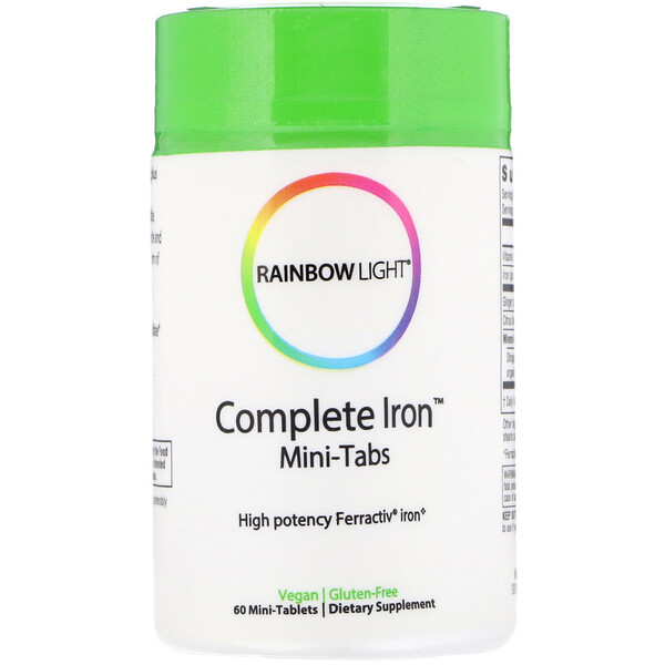 Rainbow Light, Fer Complet, Mini-comprimés, 60 Mini comprimés