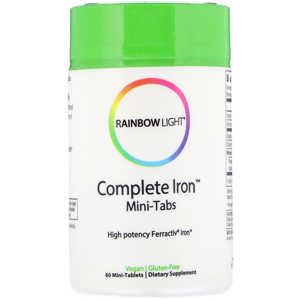 Rainbow Light, Complete Iron, Mini-Tabs, 60 Mini Tablets