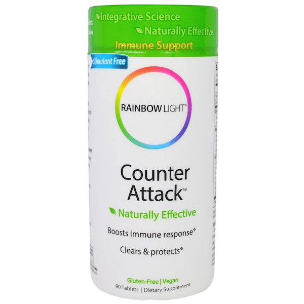 Rainbow Light, Counter Attack, 90 Tablets