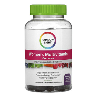 Rainbow Light, Women's Multivitamin, Mixed Berry, 120 Gummies