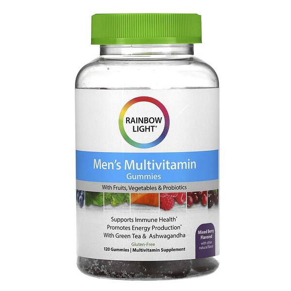 Rainbow Light, Men's Multivitamin, Mixed Berry, 120 Gummies
