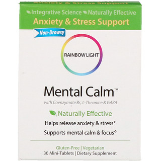 Rainbow Light, Mental Calm, 30 Mini-Tablets