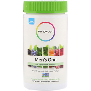 Rainbow Light, Men's One, 180 Tablets