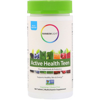 Rainbow Light, Active Health Teen, 180 Tablets