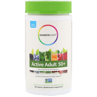 Rainbow Light, Active Adult 50+, 180 Tablets