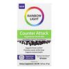 Rainbow Light, Counter Attack, Nighttime Drink Mix with Elderberry, Vitamin C, Zinc and Melatonin, Elderberry-Citrus, 10 Packets, 0.1 oz (3.7 g) Each