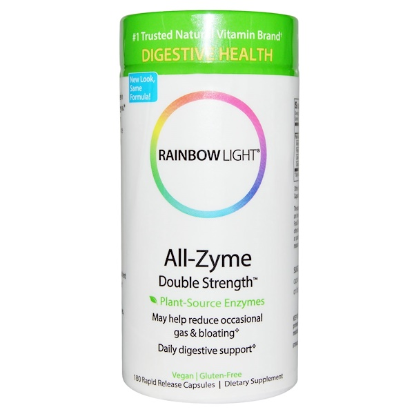 Rainbow Light, All-Zyme, Double Strength, 180 Rapid Release Capsules (Discontinued Item)