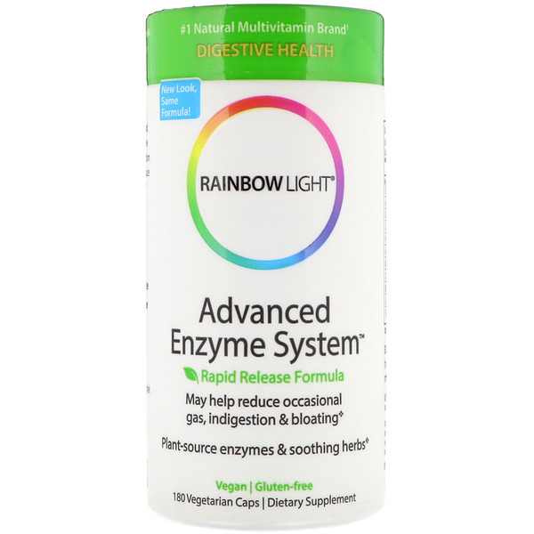 Advanced Enzyme System, Rapid Release Formula, 180 Vegetarian Caps