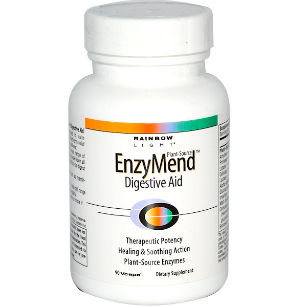 Rainbow Light, EnzyMend Digestive Aid, 90 Vcaps (Discontinued Item)