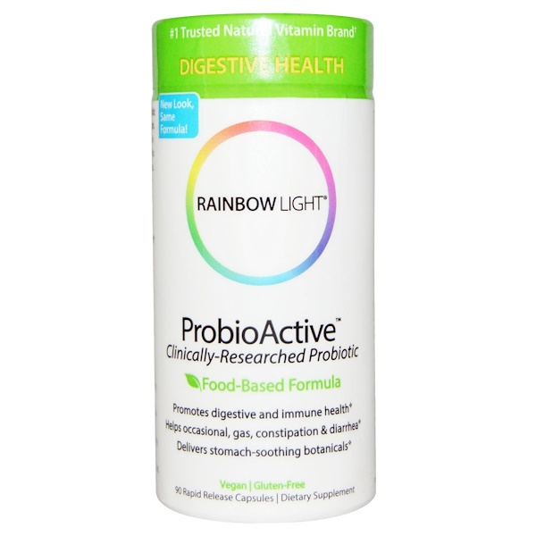 Rainbow Light, ProbioActive,基於食物的配方,90 粒速釋膠囊