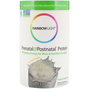 Раинбов Лигхт, Prenatal & Postnatal Protein, Creamy Vanilla, 10.5 oz (297 g) отзывы
