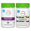 Rainbow Light, Prenatal Daily Duo, Prenatal One и Prenatal DHA Smart Essentials, комплекс витаминов для беременных, 30 таблеток + 30 капсул