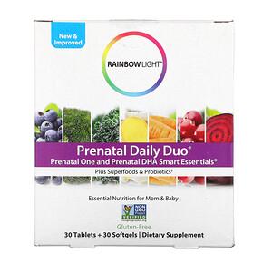 Раинбов Лигхт, Prenatal Daily Duo, Prenatal One and Prenatal DHA Smart Essentials, 30 Tablets + 30 Softgels отзывы покупателей