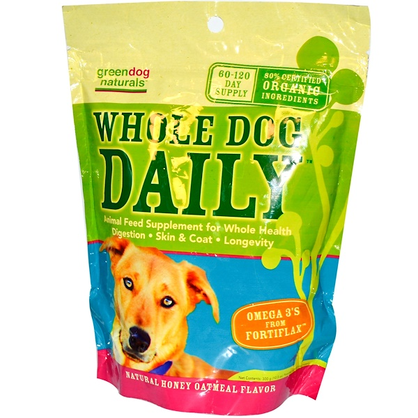 Rainbow Light, GreenDog Naturals, Whole Dog Daily, Natural Honey Oatmeal Flavor, 10.5 oz (300 g) (Discontinued Item)