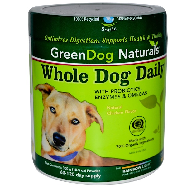 Rainbow Light, GreenDog Naturals, Whole Dog Daily, Powder, Natural Chicken Flavor, 10.5 oz (300 g)  (Discontinued Item)