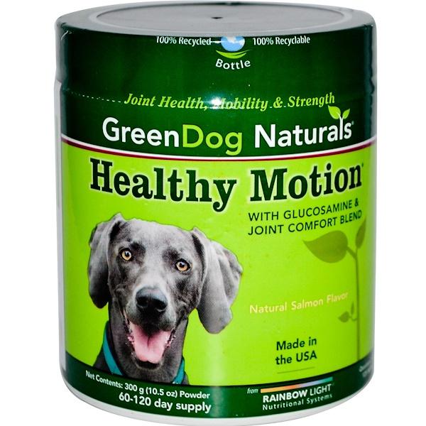 Rainbow Light, Натуральная зелень для собак, для здорового движения, со вкусом натурального лосося, 10.5 унций (300 г) порошка (Discontinued Item)