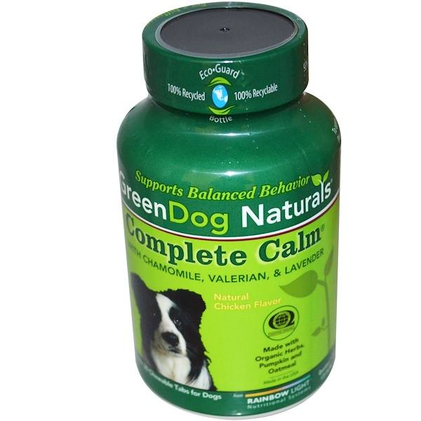 Rainbow Light, GreenDog Naturals, Complete Calm, Natural Chicken Flavor, For Dogs, 30 Chewable Tablets (Discontinued Item)