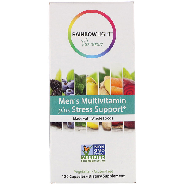 Rainbow Light, Vibrance, Men's Multivitamin Plus Stress Support, 120 Capsules