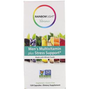 Раинбов Лигхт, Vibrance, Men's Multivitamin Plus Stress Support, 120 Capsules отзывы покупателей