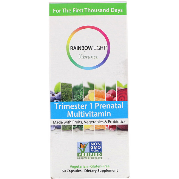Rainbow Light, Vibrance, Trimester 1 Prenatal Multivitamin, 60 Capsules (Discontinued Item)