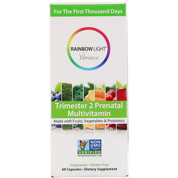 Rainbow Light, Vibrance, Trimester 2 Prenatal Multivitamin, 60 Capsules