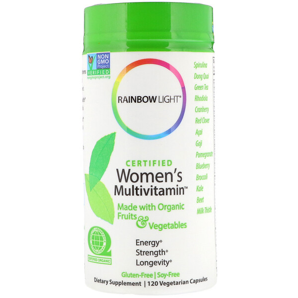 Rainbow Light, Certified Women's Multivitamin, 120 вегетарианских капсул