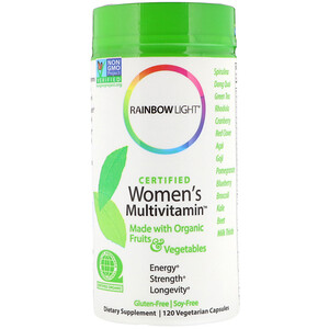 Раинбов Лигхт, Certified Women's Multivitamin, 120 Vegetarian Capsules отзывы