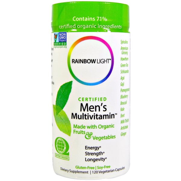 Rainbow Light, Certified Men's Multivitamin, 120 Vegetarian Capsules